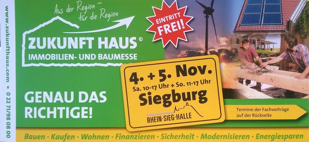 Aktuell Zukunft Haus Messe Siegburg 04.11 - 05.11.2017